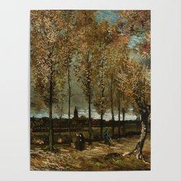 Vincent Van Gogh Poplars Near Nuenen Poster