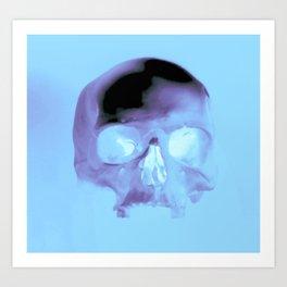 Cyan Skull Art Print