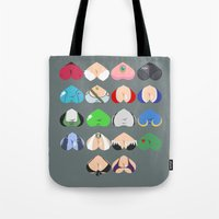 video games Tote Bags featuring Females In Video Games by Leguna
