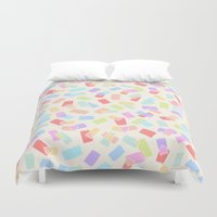 tape Duvet Covers featuring Washi Tape by Kristin Nohe Juchs