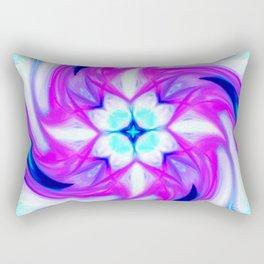Awakened Lotus Abstract Rectangular Pillow