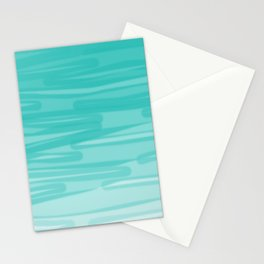 Bahama Blue Line Art, Variable Opacity Color Study - 2 Stationery Cards