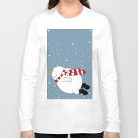 snowman Long Sleeve T-shirts featuring Snowman by SANTA