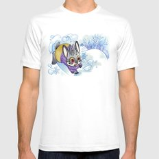 January Jackalope MEDIUM Mens Fitted Tee White
