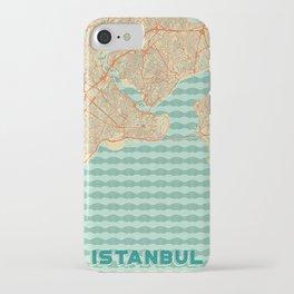 Istanbul Map Retro iPhone Case