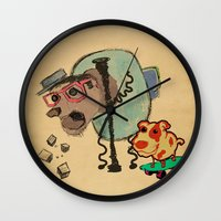 doge Wall Clocks featuring Doge Doge woof woof by creativeleo