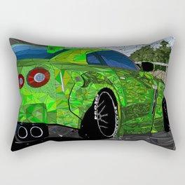 Fractal-Esq Liberty Walk Nissan GTR Rectangular Pillow