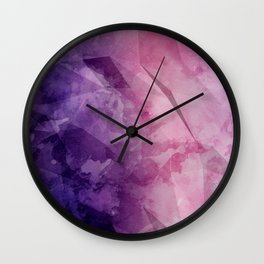 Violet - Watercolor Painting in Ultra Violet Purple and Pink Wall Clock