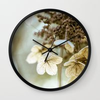 hydrangea Wall Clocks featuring hydrangea by Bonnie Jakobsen-Martin