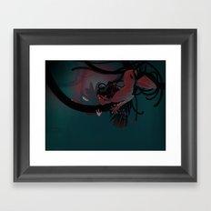 Red hunter Framed Art Print