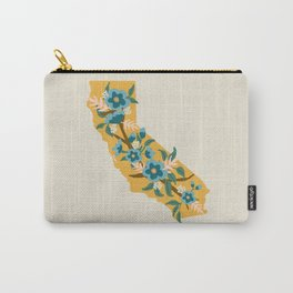 The Golden State of Flowers Carry-All Pouch