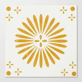 Happy Sunshine - yellow art, sunshine, boho art, bohemian, tile, home decor, yellow, yellow art print Canvas Print