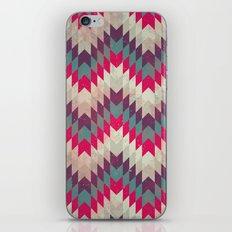 Chevron pattern_purple, blue and pink iPhone & iPod Skin