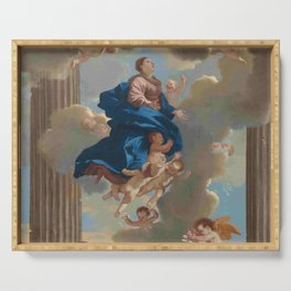 Poussin -the assumption of the virgin Serving Tray