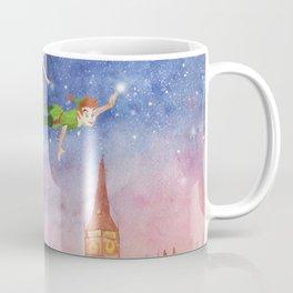 Peter Pan Sunset Nursery Decor Coffee Mug