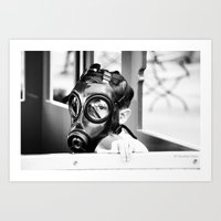A day with unmasked children Art Print