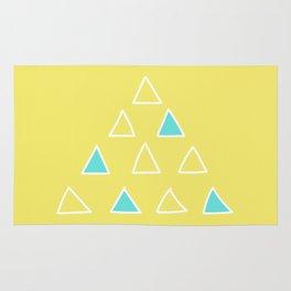Happy Scandi Yellow Triangles! Rug