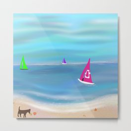 In the Pink in a Tropical Paradise Metal Print