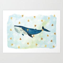 Friendly Blue Giant Art Print