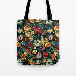 Floral Pattern Winter Garden Tote Bag