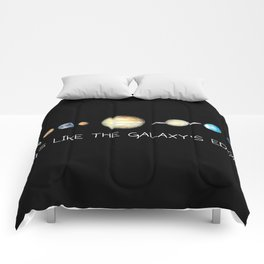 Lips Like The Galaxys Edge Comforters