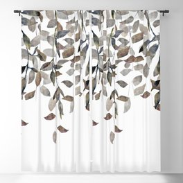 Leaf Cascade Linen Texture Neutral Blackout Curtain