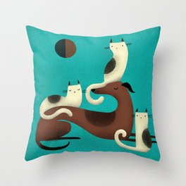 GREYHOUND PERCH Throw Pillow