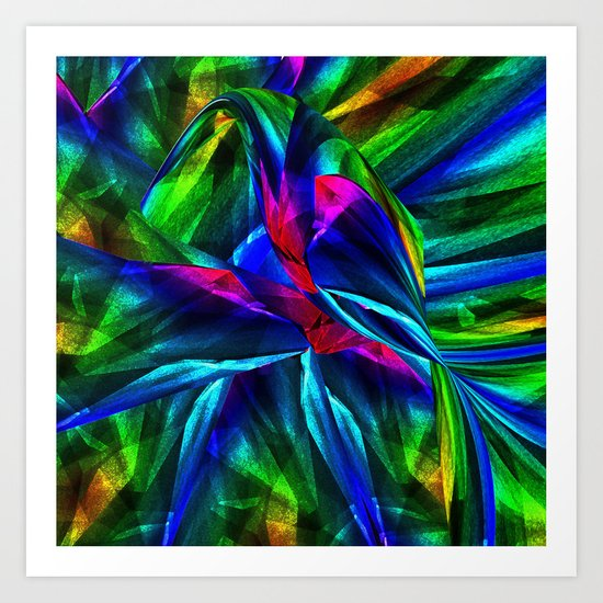 Tropical Bird sits on a Tropical Tree Art Print