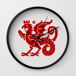 Medieval Red Dragon Wall Clock