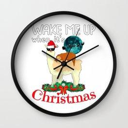 Cool Llama With A Sleeping Sloth Christmas Xmas Gift Wall Clock