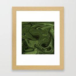 Luminous Green streams of dark and light Framed Art Print