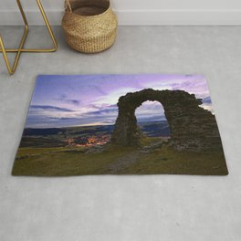 Town on the edge of forever Rug