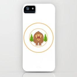 Outdoor Mountain Hiking Bigfoot Sasquatch Official Bigfoot Research Team Apparels T-shirt Design iPhone Case