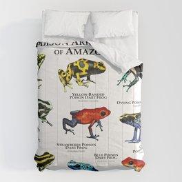 Poison Arrow Frogs of Amazonia Comforters