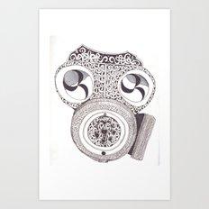 Celtic gasmask Art Print