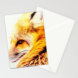 red fox digital acryl painting acrstd Stationery Cards
