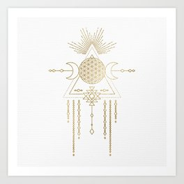 Golden Goddess Mandala Art Print