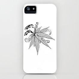 Marijuana leaf with smoke iPhone Case