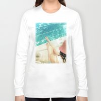 calm Long Sleeve T-shirts featuring calm by Vin Zzep