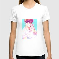 shinee T-shirts featuring Minho & Kitten by sophillustration