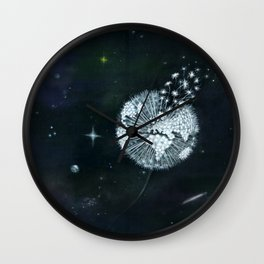 Blowing in Space Wall Clock