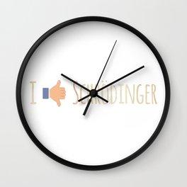 I like  dislike schrö Wall Clock