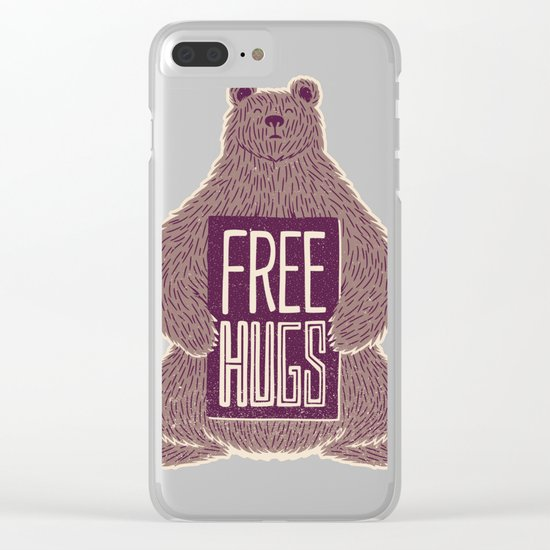 Free Hugs Bear Clear iPhone Case