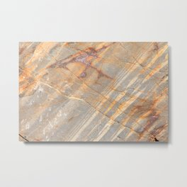 Rock Pattern II (Lake Tahoe, California) Metal Print