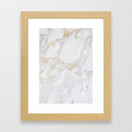 Marble with Gold Framed Art Print