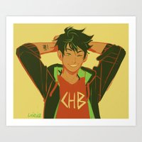 percy jackson Art Prints featuring percy by viria