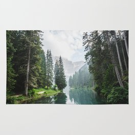 Forest Reflection in Italy Rug