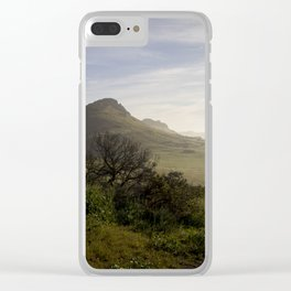 Foggy Horizon Clear iPhone Case