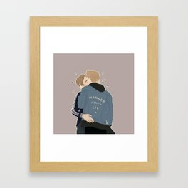 MANNEN I MITT LIV Framed Art Print