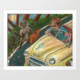 Meena Hitchhikes Art Print